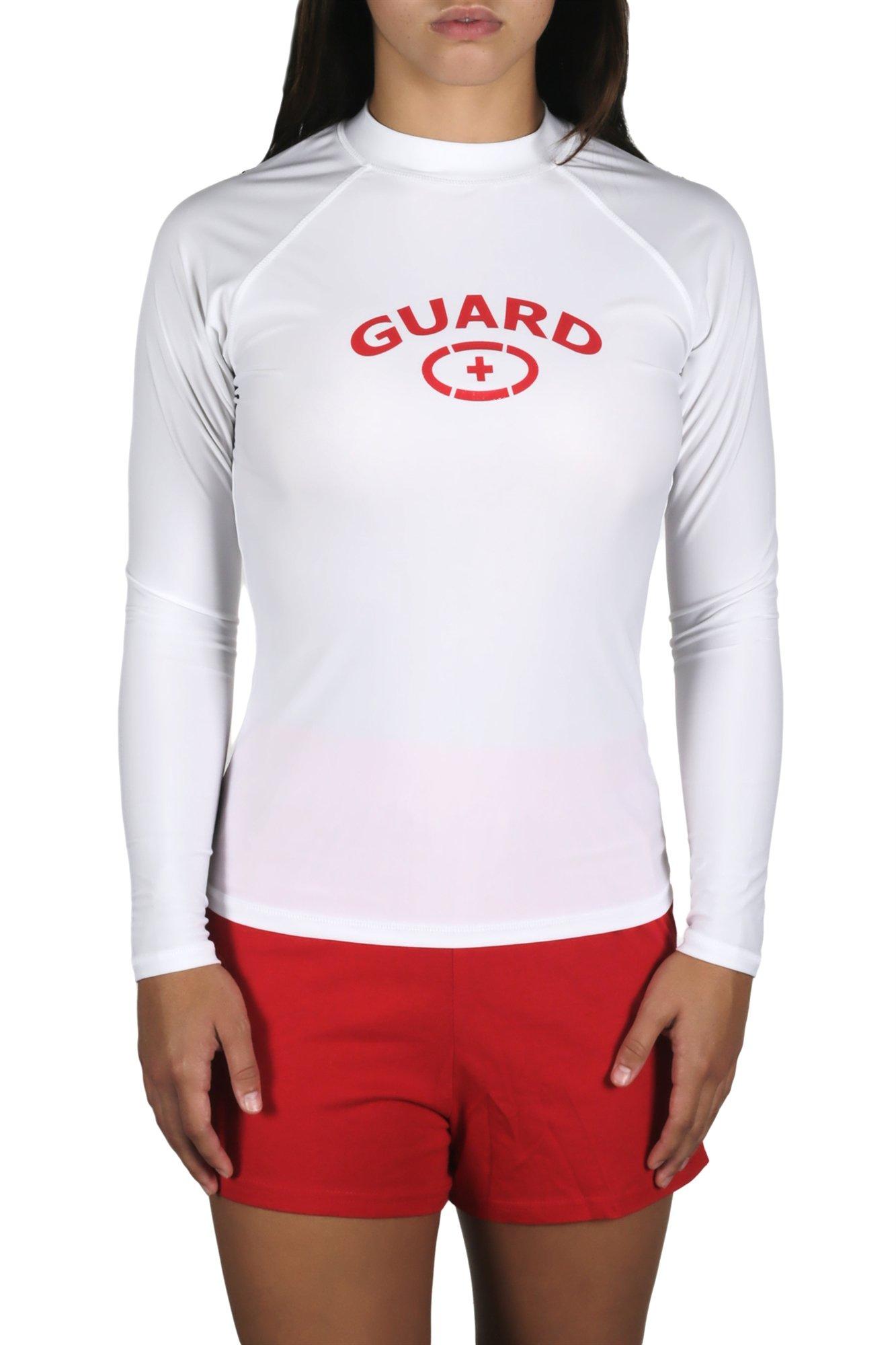 Adoretex Women's Guard Rashguard Long Sleeve Swim Shirt (White, Medium) by Adoretex