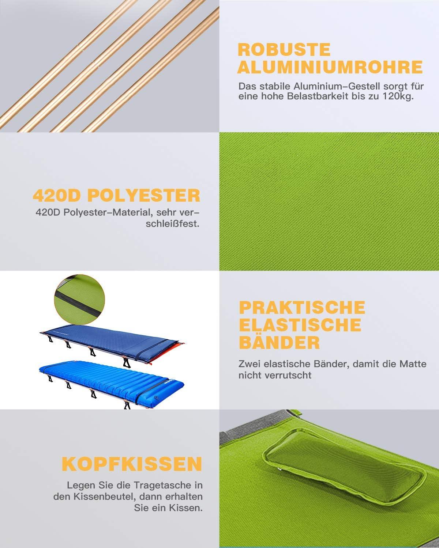 KingCamp Si/ège Portable Pliable r/églable pour tabourets pour Les Voyages de Camping et Les Parcs dattractions