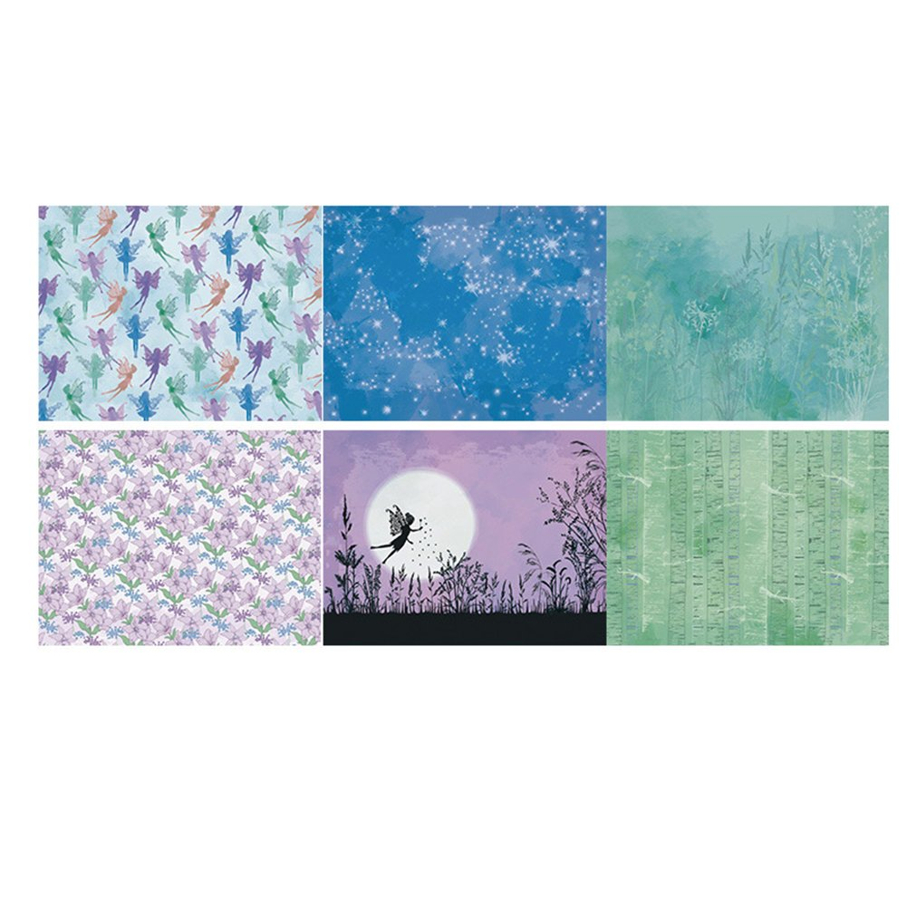 Bulary 14PCS Fairy Patterned Paper Background Paper Craft Paper DIY Photo Scrapbooking Background Paper Craft Card for Scrapbooking & Craft 15x20cm