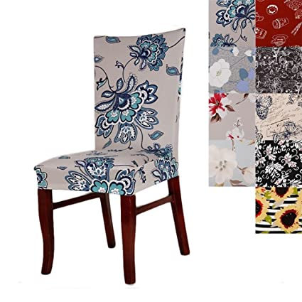 Super Fit Universal Stretch Dining Chair Covers Removable Washable Slipcovers For Room Chairs