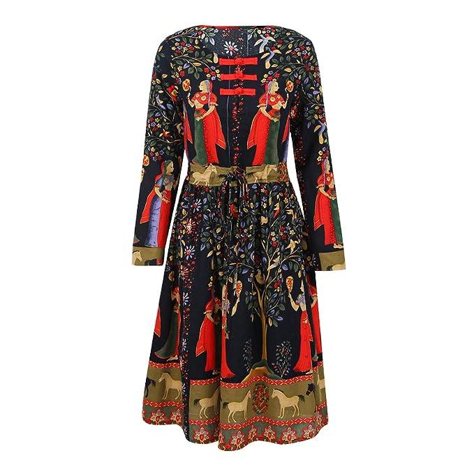 Plus Size Women Clothing Fashion Vintage Floral Chinese Dress