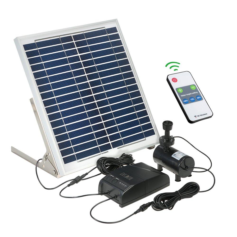 Decdeal 15w Solar Power Fountain Pump With Storage