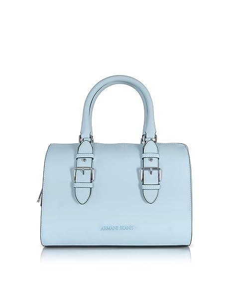 Armani Jeans Mujer 9222117P77211530 Azul Claro Cuero Sintético Bolso De  Mano  Amazon.es  Ropa y accesorios 41f4c30224af