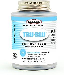 Rectorseal 31551 1/2 Pint Brush Top Tru-BluPipe Thread Sealant