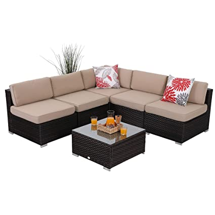 Amazon.com: PHI VILLA - Juego de muebles de exterior de ...
