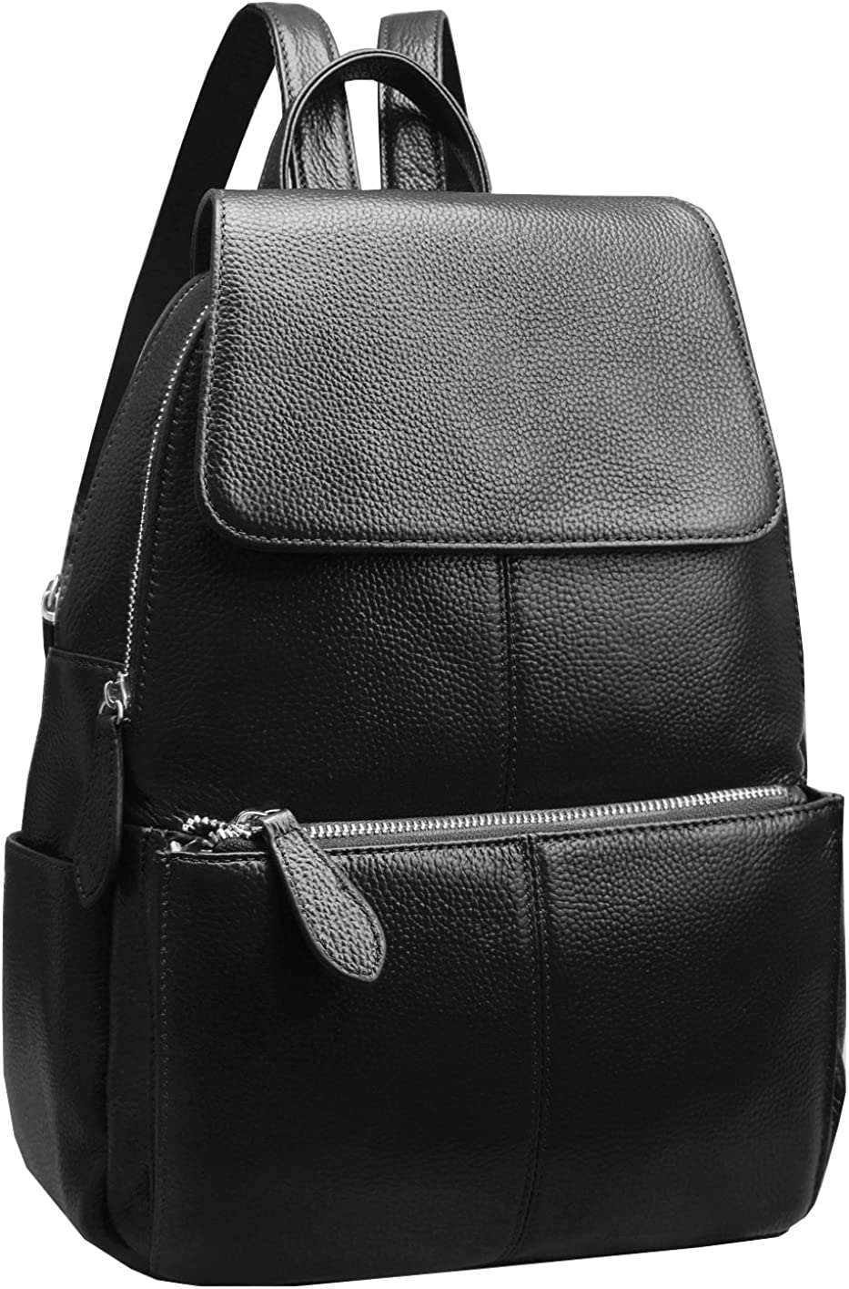 Heshe Womens Leather Backpack Casual Daypack Ladies Fashion Bag