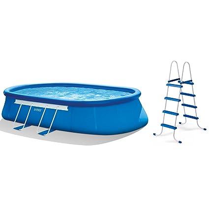 Intex Oval Frame Pool Set, 20-Feet-by-12-Feet-by-48-Inch