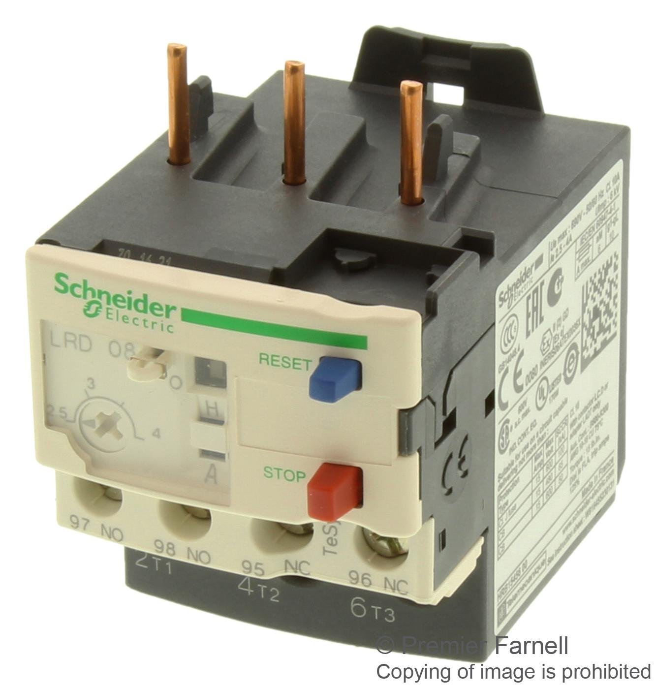 NEW TeSys LRD thermal overload relays LR-D08 LRD08 2.5-4A Class 10A