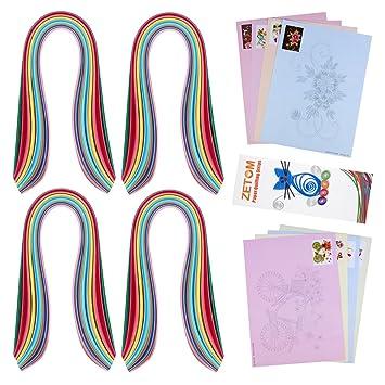 "zetom papel Quilling Tiras, 36 colores 21 ""(54 cm) largo 4"