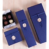 12 Cavity Chocolate Gift Packaging Box Wedding Party Paper Favor Boxes-Set of 10 (12 cavity blue)