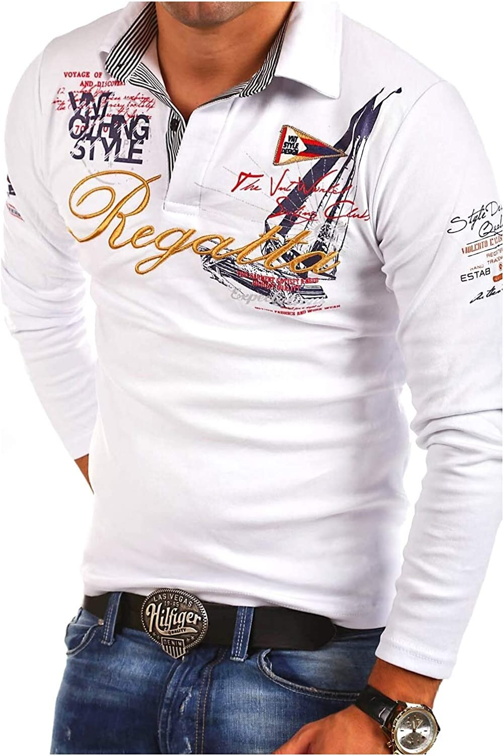 MT Styles 2in1 longsleeve Polo Shirt P-MONACO R-0760
