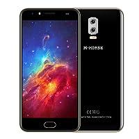 M - HORSE Power 2 4G Phablet 5.5 pulgadas Android 7.0 MTK6737 Quad Core 1.3GHz 2GB RAM 16GB ROM Cámaras Duales Posteriores Escáner de Huellas Dactilares (NegroOro)