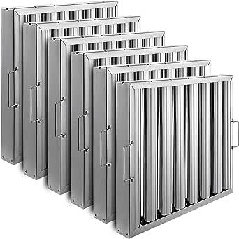 Anhon Metal Filtro de Grasa 495X495X48mm Filtros de Grasa para Campana Extractora del Acero Inoxidable Mas Seguro: Amazon.es: Grandes electrodomésticos