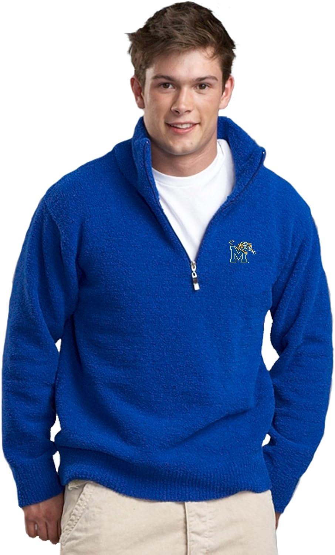 NCAA University of Memphis Kashwere U Unisex Half Zip Pullover Royal Blue, X-Large//46-48