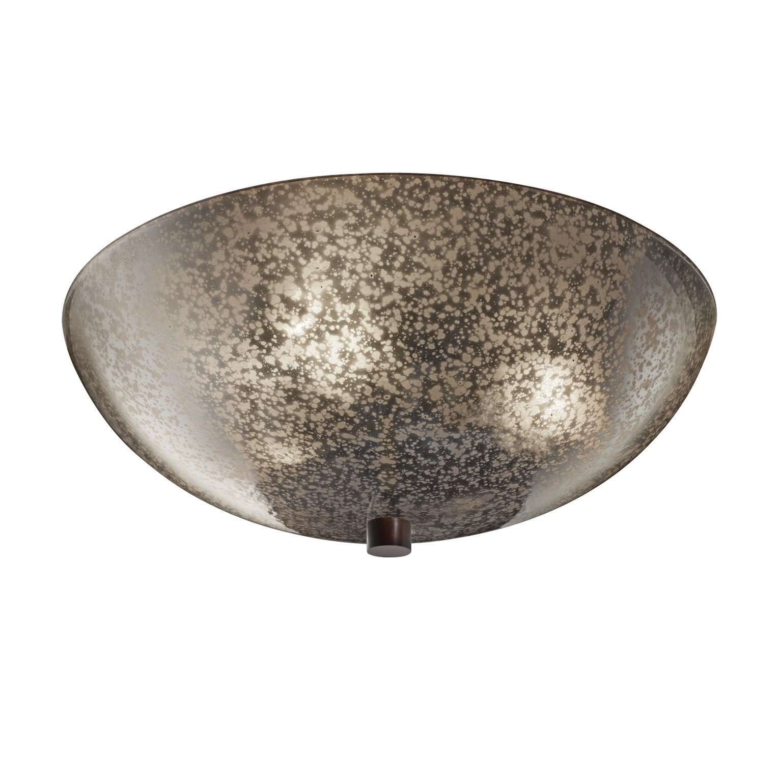 Justice Design Group Fusion 3-Light Fluorescent Semi-Flush - Dark Bronze Finish with Mercury Glass Artisan Glass Shade by Justice Design Group Lighting