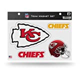 Rico Industries NFL Kansas City Chiefs Die Cut Team Magnet Set Sheet