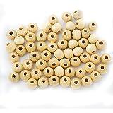100 Stück Holzperlen Kugel Kugeln Spacer Zwischenperlen Schmuck DIY Basteln - #1, One Size