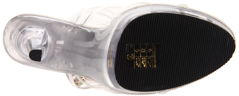 Pleaser Women's Lip-106/C/M Platform Sandal B0013JQPNS 10 B(M) US|Clear/Clear