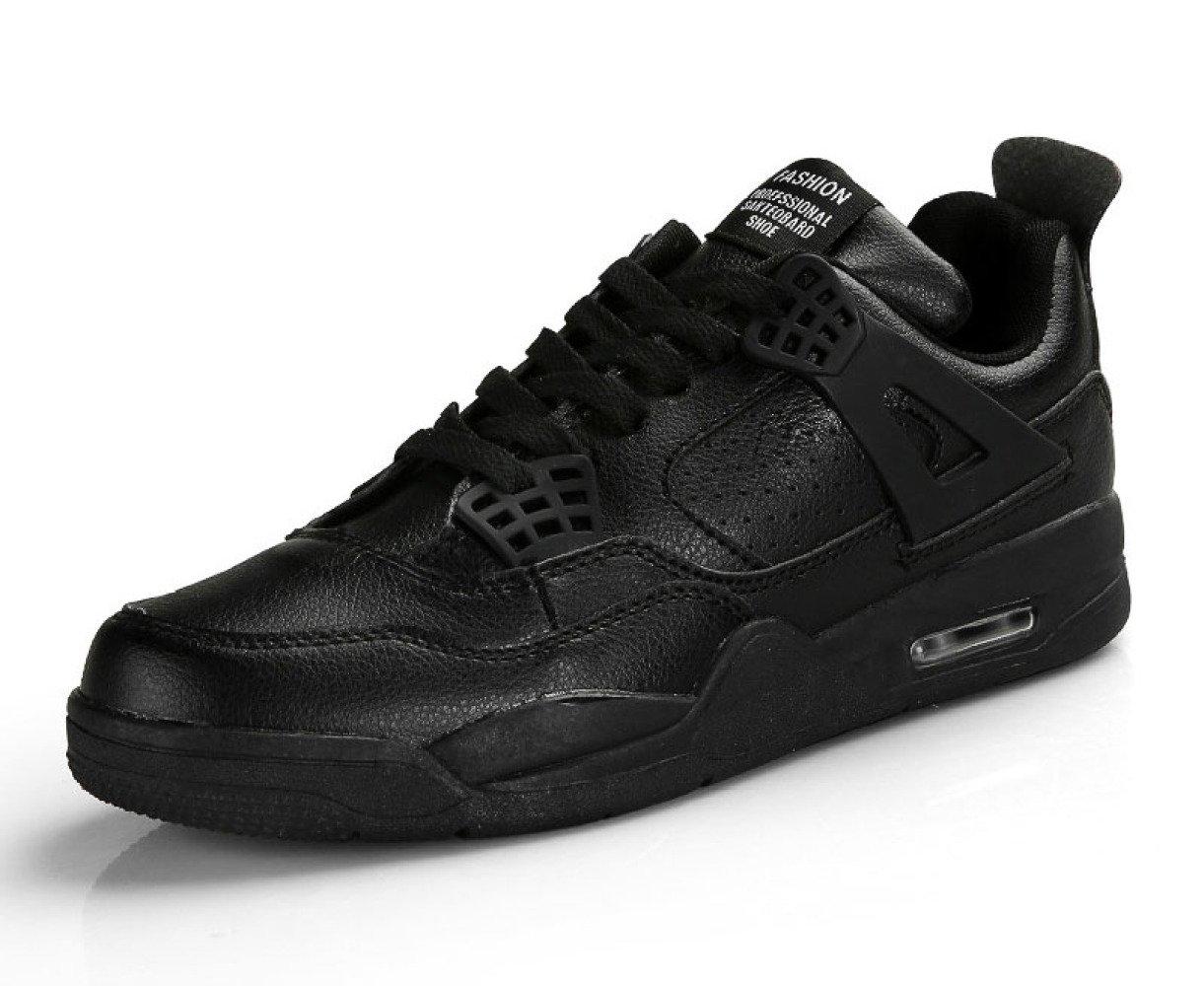 MUYII Zapatillas De Deporte De Moda Zapatillas De Skate Zapatillas De Deporte Con Cordones Zapatillas De Deporte De Calle Zapatillas De Exterior,Black-EU37 EU37|Black