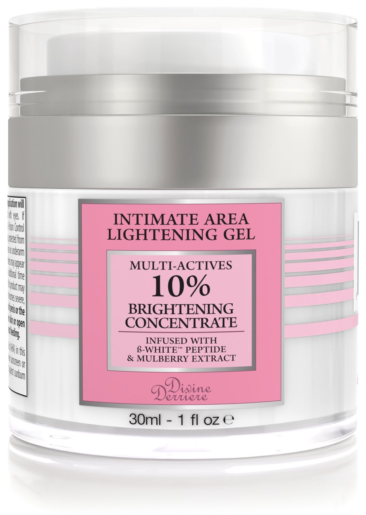 Divine Derriere Intimate Skin Lightening Gel for Body, Face, Bikini and Sensitive Areas - Skin Whitening Cream Contains Mulberry Extract, Arbutin, B-White Peptide 30ml / 1 oz. by DIVINE DERRIERE