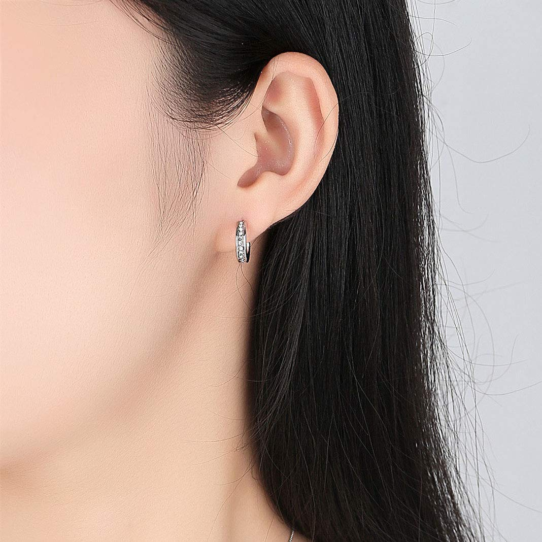 Zhang Trading 18K Gold-Plated Small Semi-Circle Stud Earrings