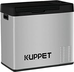 KUPPET Portable Refrigerator/Freezer 33Qt, Car Fridge, Dual Temperature Electric Cooler for Truck Party, Travel, Picnic Outdoor, Camping and Home use -12/24V DC and 100-240V AC, -4°F ~ 68°F