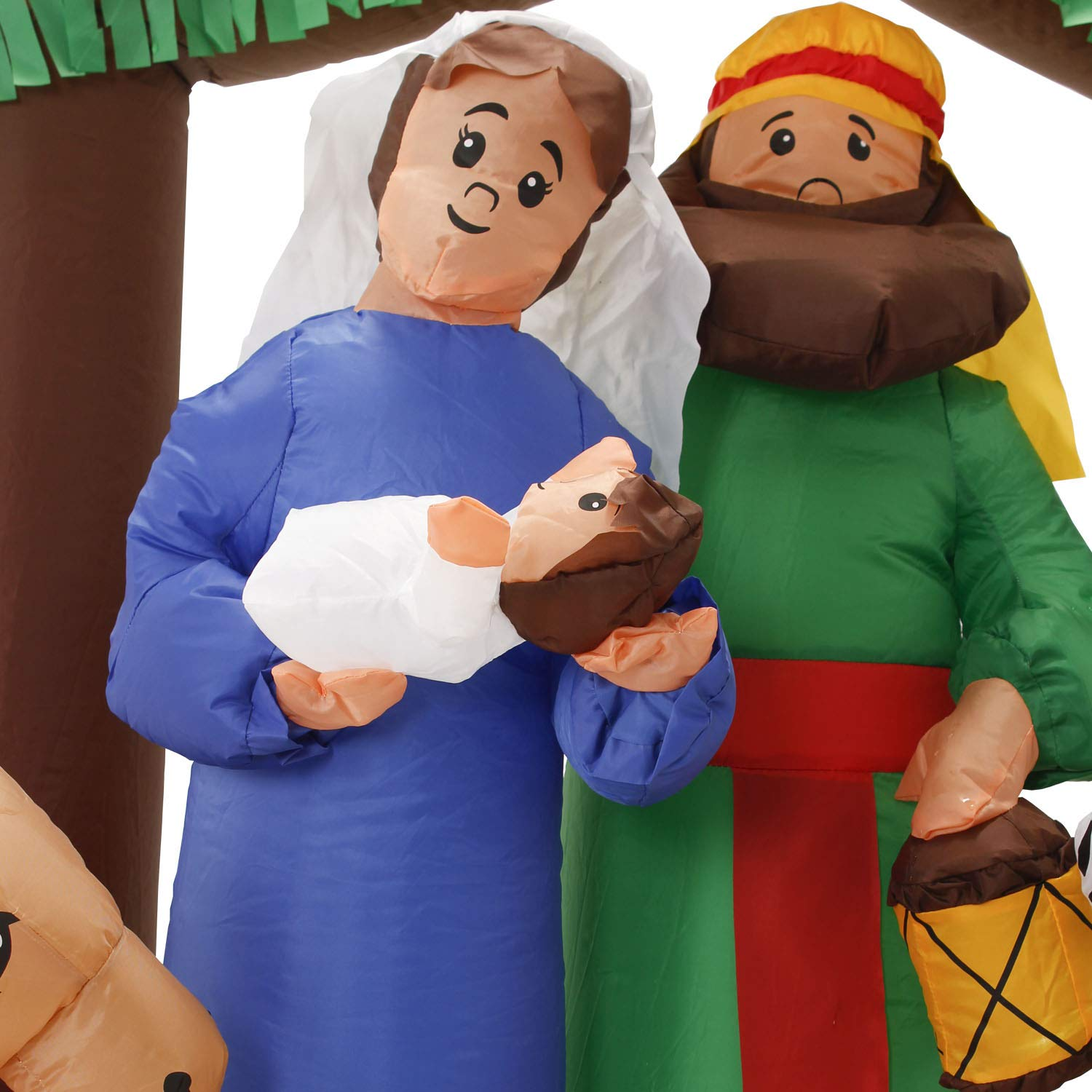 TCP Global Christmas Masters 6 Foot Wide Inflatable Holy Nativity Scene LED Lights Indoor Outdoor Yard Lawn Decoration - Mary, Joseph, Baby Jesus Xmas Holiday Party Blow Up Display by TCP Global (Image #7)