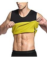 SETENOW Men's Hot Sweat Body Shaper Tummy Fat Burner Tank Top Slimming Vest Weight Loss Shapewear Neoprene No Zip