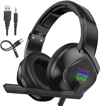 ONIKUMA Cascos Gaming para PS4, Auriculares Cascos Gaming Estéreo ...