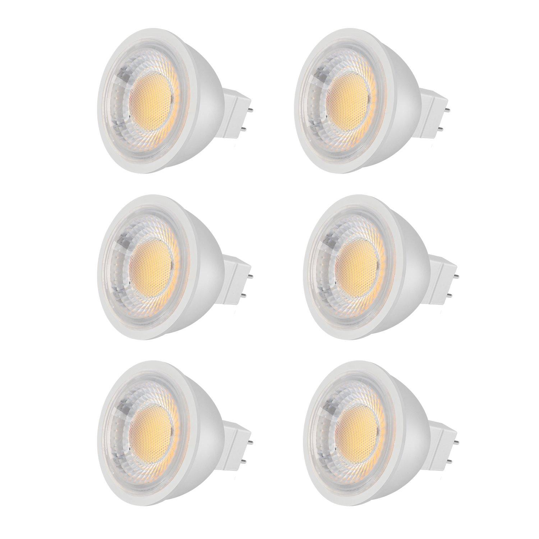 zoopod mr16 LED電球、12ボルト、3 W 300lm、30 Wハロゲン電球相当、3000 Kウォームホワイト、40 °ビーム角度非調光mr16 gu5.3 LEDライト電球、6パック B07D6MCFJY