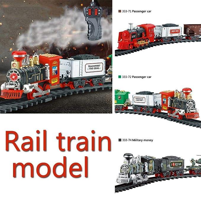 tren juguete control remoto Humo eléctrico autobus juguete Recargable Clásicos Simulación tren electrico, Remote control train: Amazon.es: Bebé