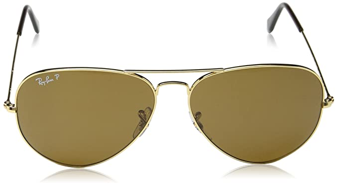 ray ban rb 3138 shooter aviator sunglasses yellow  amazon: ray ban sunglasses shooter metal rb3138 001 gold/crystal green, 58mm: ray ban: clothing