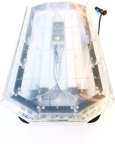 Led Warnbalken Roadlight Warnleuchte Dachbalken 59 Cm 12v 24v 56w Mit Magnetfuß Auto