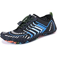 MAYZERO Water Shoes Men Women Quick Drying Swim Surf Beach Pool Shoes Wide Toe Hiking Barefoot Aqua Shoes Summer Outdoor Sports Shoes