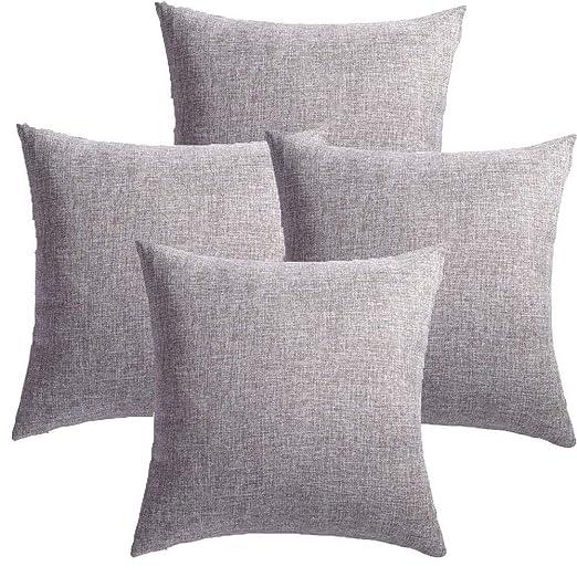 MRNIU cojines decoracion 45 x 45 Gris oscuro cojines sofas ...