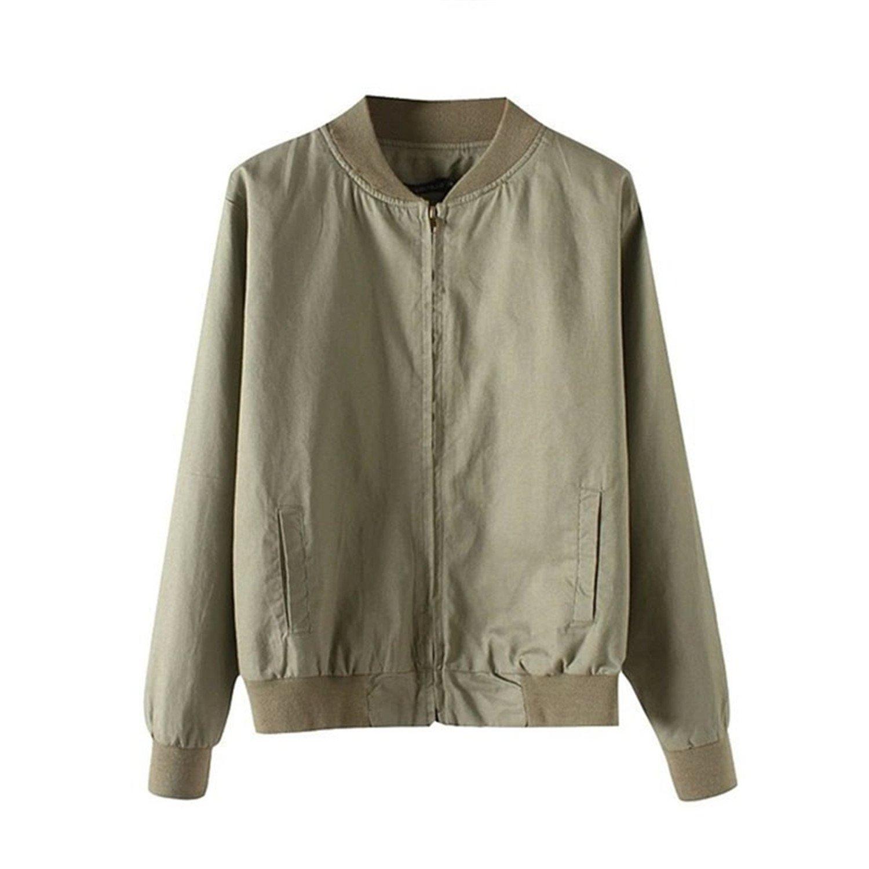 Amazon.com: Dormery Coat Autumn Flight Army Green Women ...