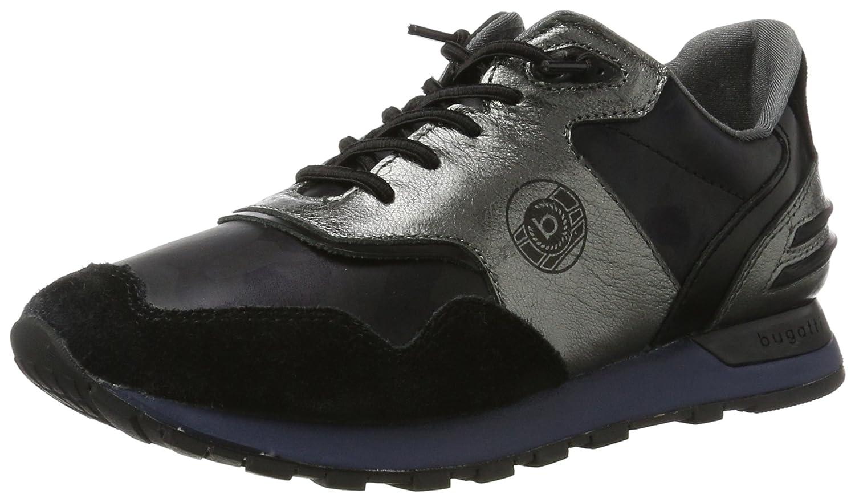 Bugatti 422285011419, Zapatillas para Mujer 37 EU Negro (Black / Silver 1013)