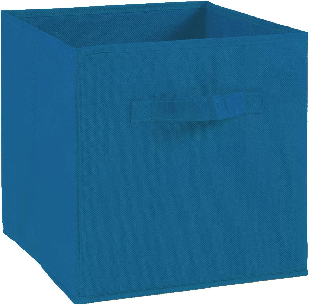 Compo Caja de almacenaje con asa de Tela 27 x 27 x 28 cm Color Azul