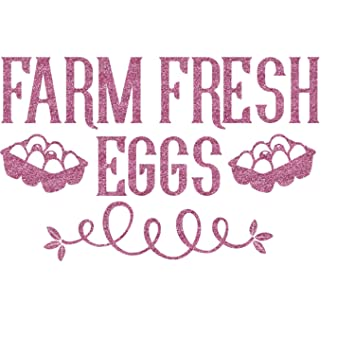"RNK Shops Farm Quotes Glitter Sticker Decal - Up to 9""X9"" (Personalized"