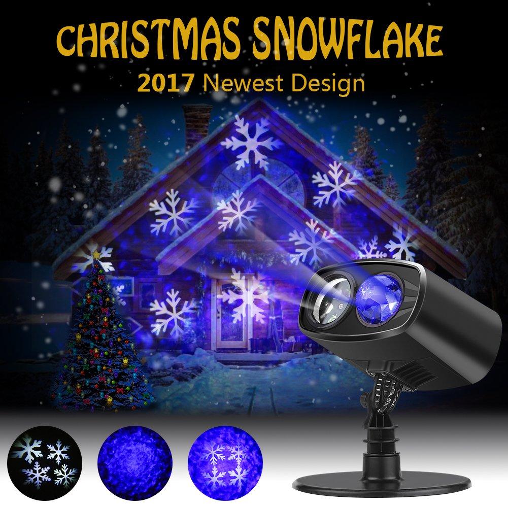Luces de Proyector Navidad LED Nieve Luz de Proyección Paisaje IP Impermeable