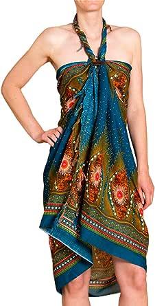 PANASIAM Sarong - Pareo con diseño de peacock