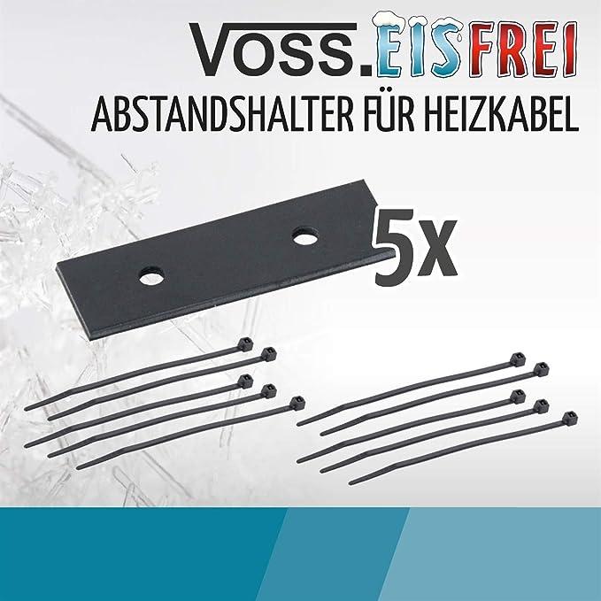 Frostschutz Kabelschutz Heizkabel Kabel Schutz VOSS.eisfrei Abstandshalter f/ür Heizkabel inklusive Kabelbinder