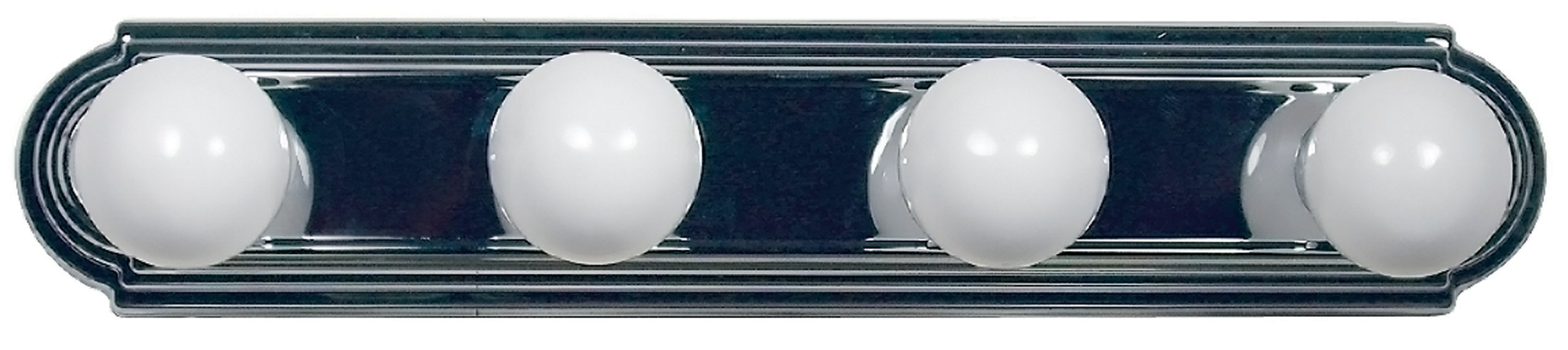 Yosemite Home Decor 4504SN Vanity Series Four-Light Incandescent, 24-Inch, Satin Nickel, 15 Piece - Width 24-Inch by height 5-Inch Requires (4) medium-based, 60-Watt incandescent bulbs (not included) Satin nickel frame with white glass - bathroom-lights, bathroom-fixtures-hardware, bathroom - 71QOHC7sGLL -