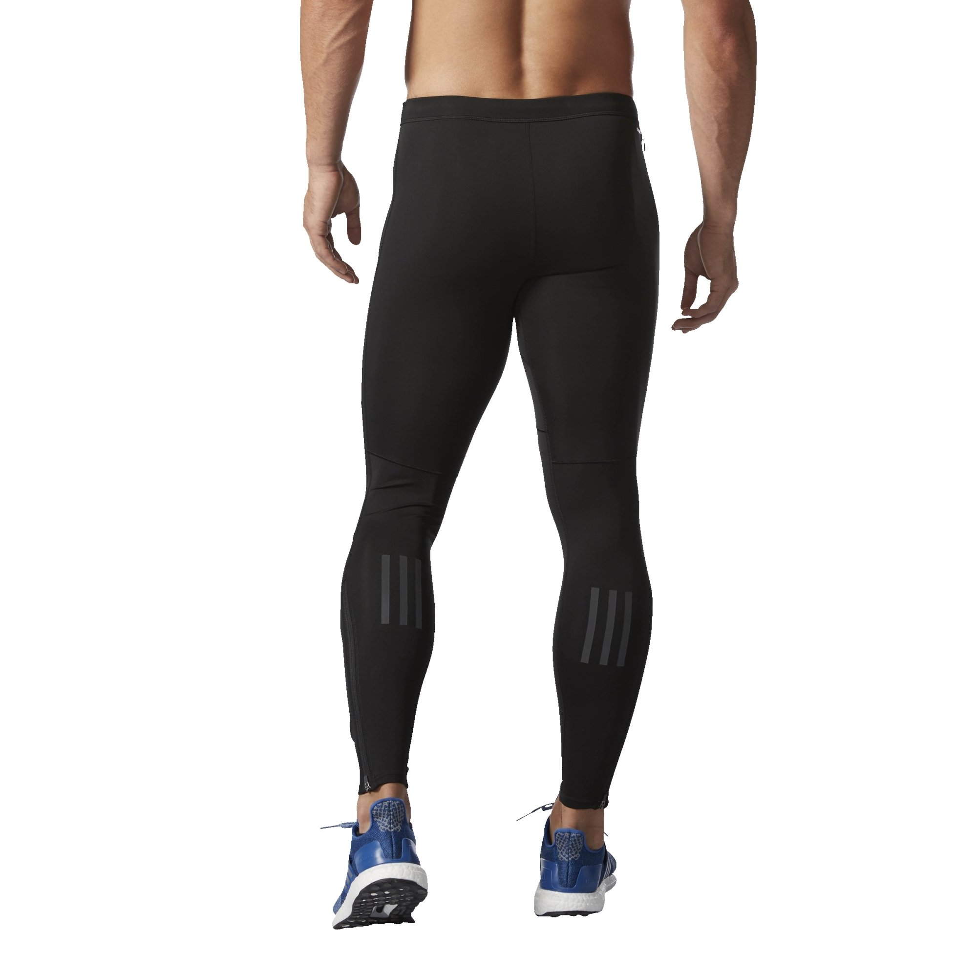 adidas Men's Running Response Long Tights, Black, Large by adidas (Image #2)