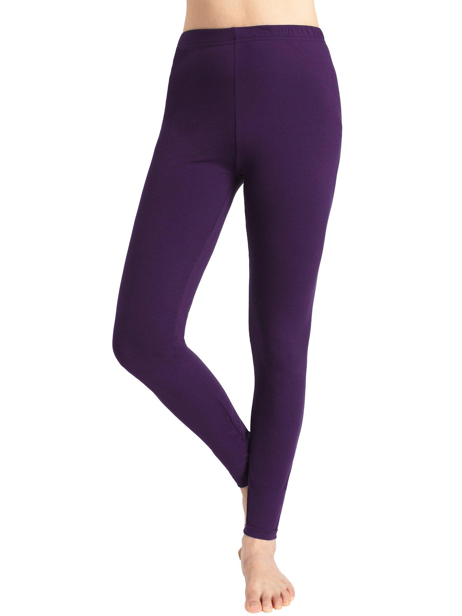 Esenchel Women's Brushed Soft Leggings XXL Purple
