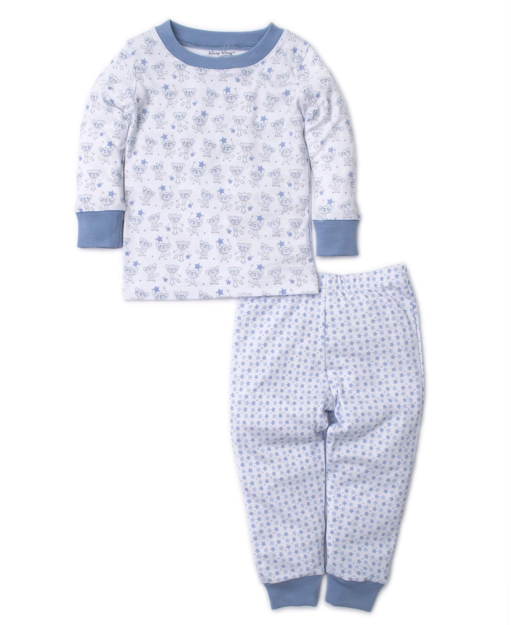 Kissy Kissy Baby-Boys Infant Monkey Moves Print Long Pajamas Set-Light Blue-12-18 Months by Kissy Kissy