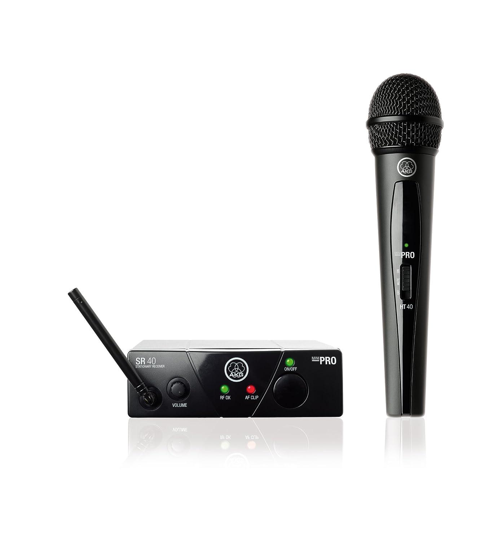 AKG WMS40 Wireless Mini Single Vocal Microphone Set, Band 45a