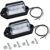 Justech 2x Luces de Placa de Matrícula LEDs