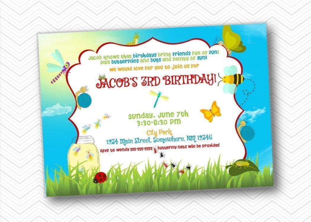 Amazon.com: Bug Kids Birthday Party Invitations | Envelopes Included ...