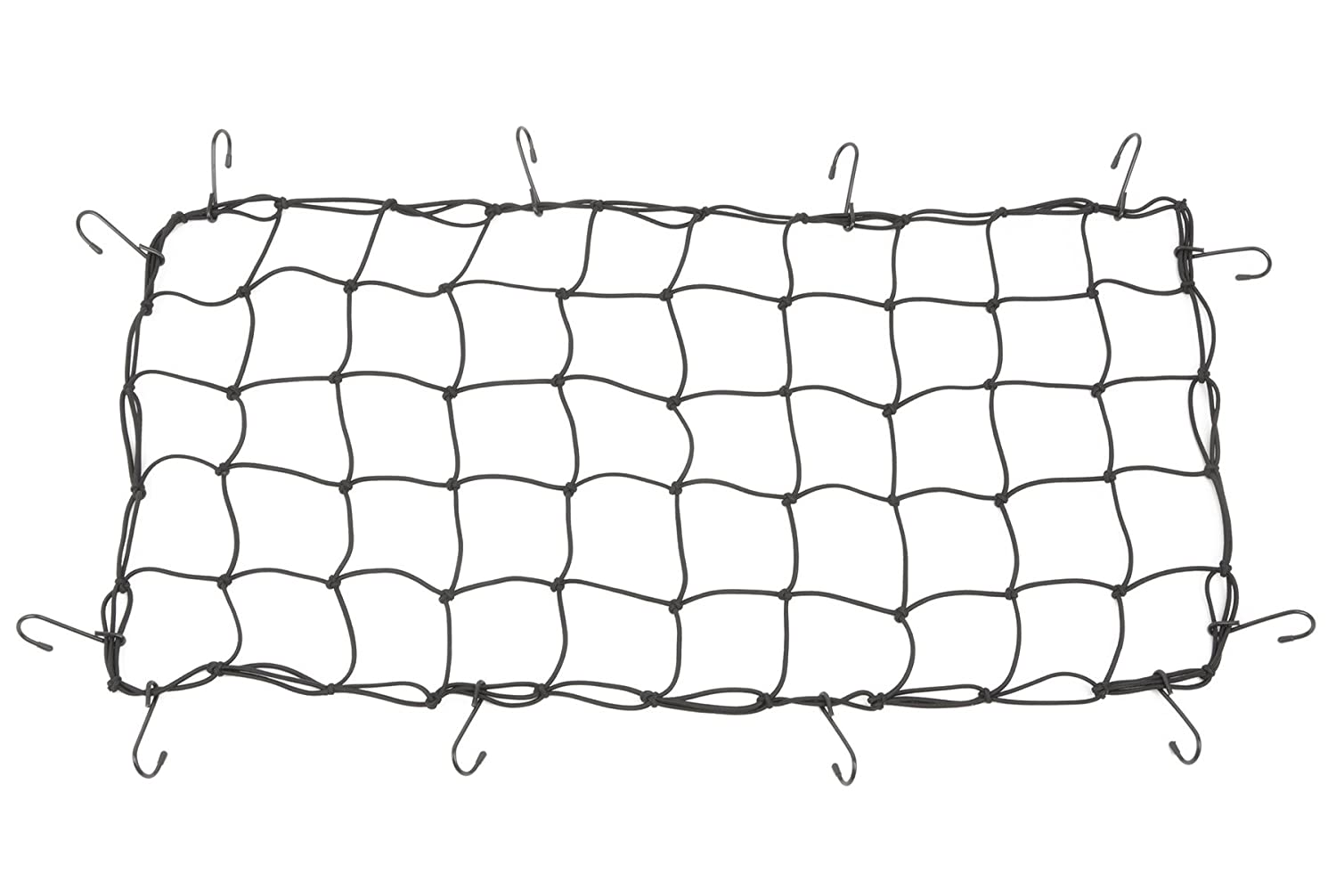 Powertye 15 x 30 Mfg Cargo Net Made with Premium Latex Bungee Material 3x3 Mesh and Rubber-Tipped Super Strong Metal Hooks Black 3x3 Mesh and Rubber-Tipped Super Strong Metal Hooks 4333199472